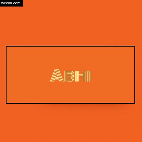 Make -Abhi- Name Logo - Write name on Image