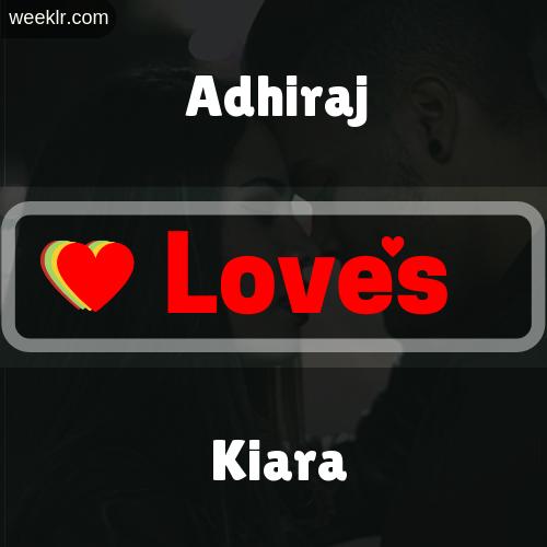 Adhiraj  Love's Kiara Love Image Photo