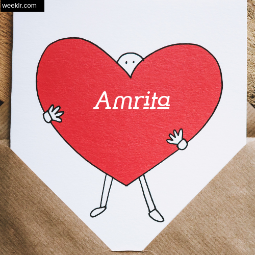 Amrita on Heart Image love letter