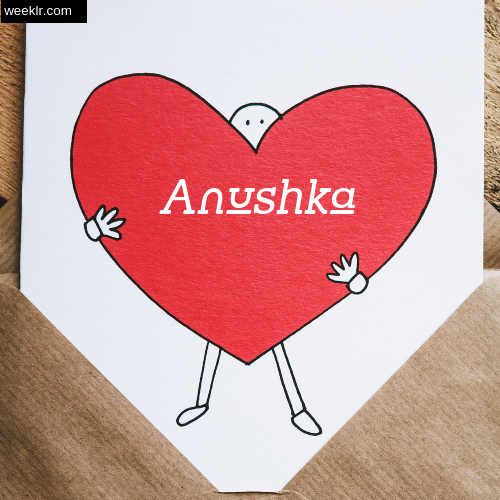 Anushka on Heart Image love letter