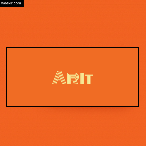 Arit Name Logo Photo - Orange Background Name Logo DP