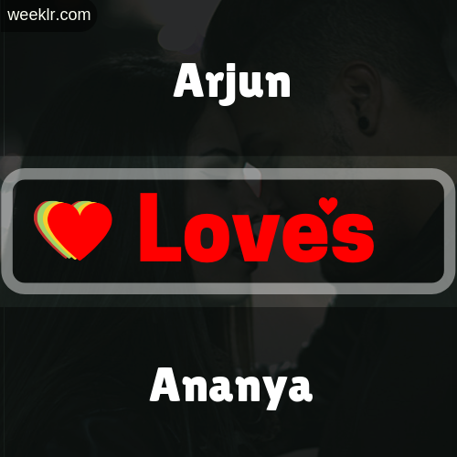 -Arjun- Love's-Ananya- Love Image Photo