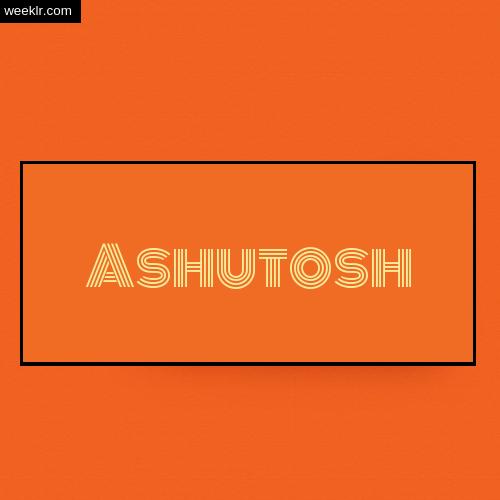 Ashutosh Name Logo Photo - Orange Background Name Logo DP