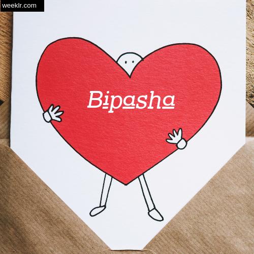 Bipasha on Heart Image love letter