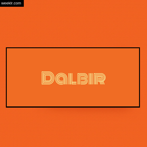 Dalbir Name Logo Photo - Orange Background Name Logo DP
