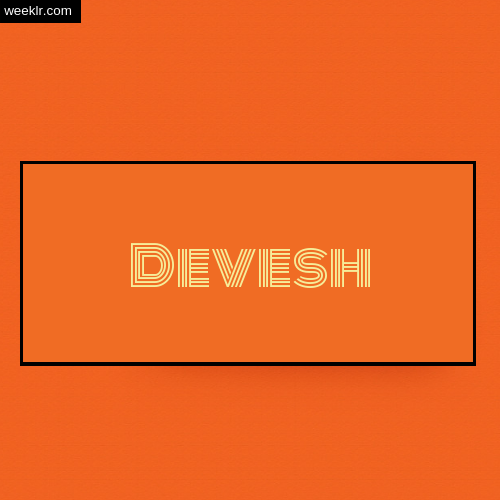 Devesh Name Logo Photo - Orange Background Name Logo DP