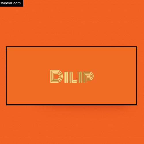 Dilip Name Logo Photo - Orange Background Name Logo DP