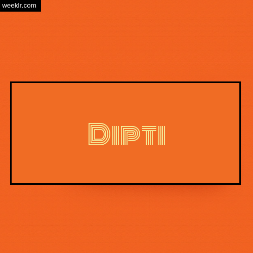 Dipti Name Logo Photo - Orange Background Name Logo DP