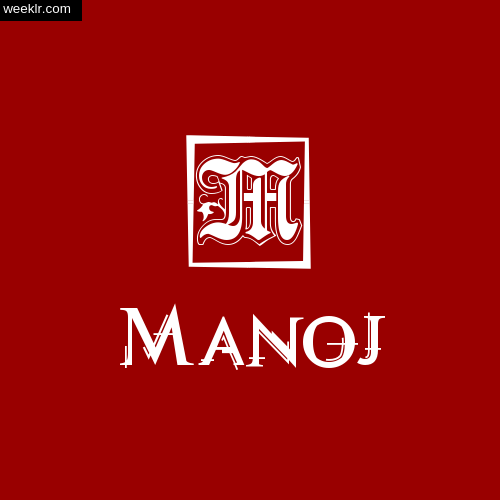 -Manoj- Name Logo Photo Download Wallpaper