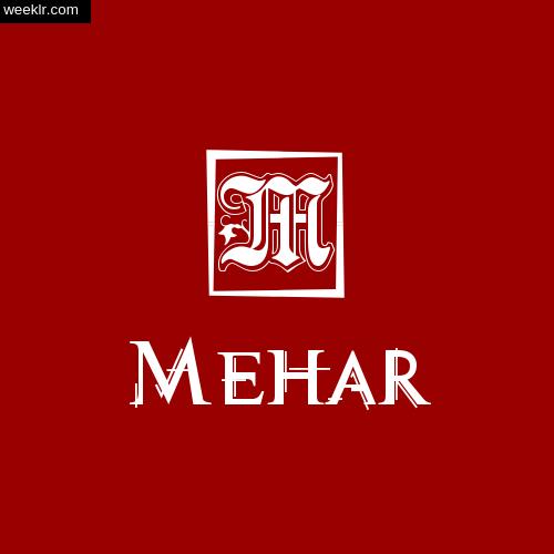 -Mehar- Name Logo Photo Download Wallpaper