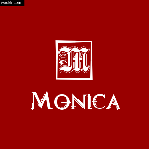-Monica- Name Logo Photo Download Wallpaper