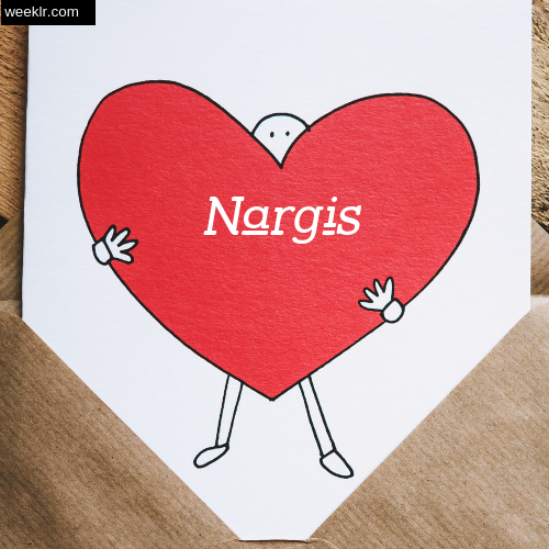 Nargis on Heart Image love letter