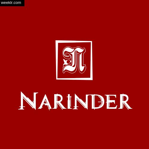 Narinder Name Logo Photo Download Wallpaper