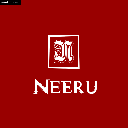 -Neeru- Name Logo Photo Download Wallpaper