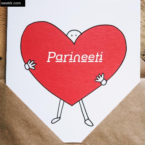 Parineeti on Heart Image love letter