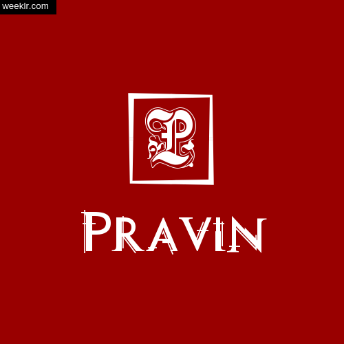 Pravin Name Logo Photo Download Wallpaper