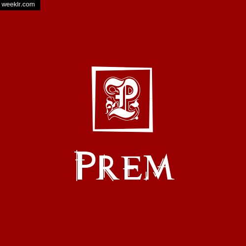 -Prem- Name Logo Photo Download Wallpaper