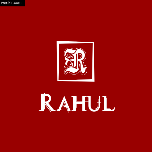 Rahul Name Logo Photo Download Wallpaper