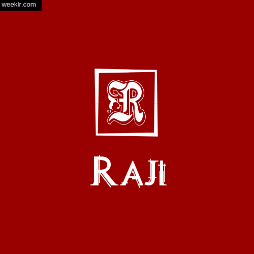-Raji- Name Logo Photo Download Wallpaper