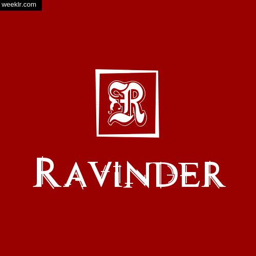 -Ravinder- Name Logo Photo Download Wallpaper