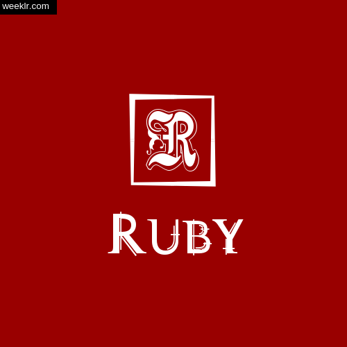 -Ruby- Name Logo Photo Download Wallpaper