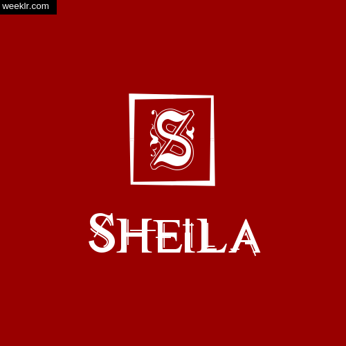-Sheila- Name Logo Photo Download Wallpaper