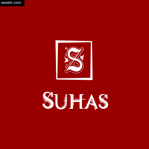 Suhas Name Logo Photo Download Wallpaper