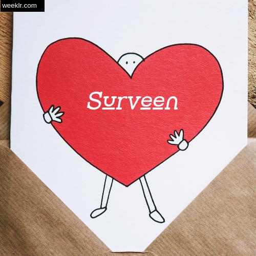 Surveen on Heart Image love letter