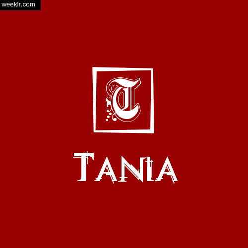 Tania Name Logo Photo Download Wallpaper