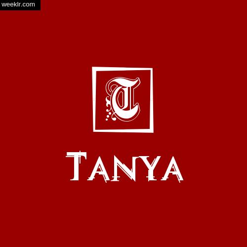 -Tanya- Name Logo Photo Download Wallpaper