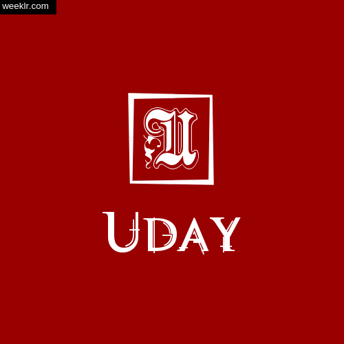 Uday Name Logo Photo Download Wallpaper