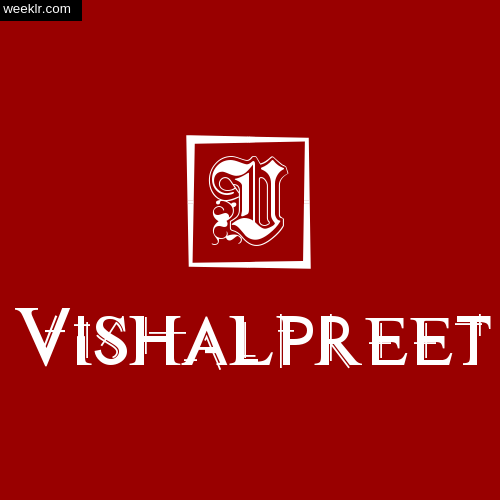 -Vishalpreet- Name Logo Photo Download Wallpaper