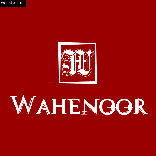 -Wahenoor- Name Logo Photo Download Wallpaper