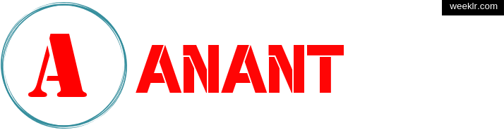 Write -Anant- name on logo photo