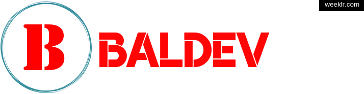 Write Baldev name on logo photo