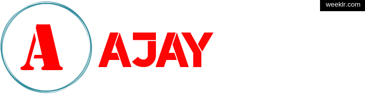 Write -Ajay- name on logo photo