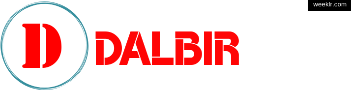 Write -Dalbir- name on logo photo