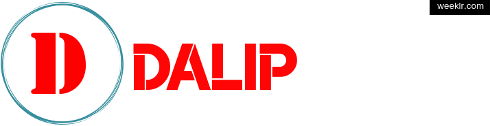 Write Dalip name on logo photo