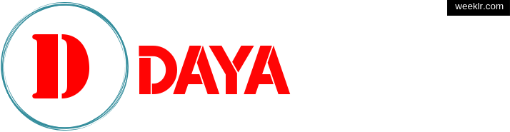 Write -Daya- name on logo photo