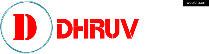 Write -Dhruv- name on logo photo