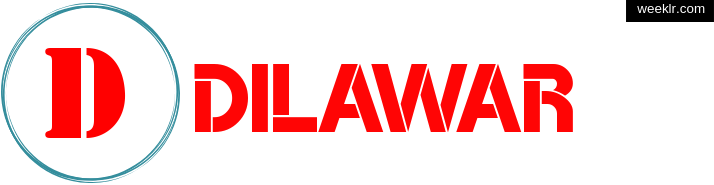 Write -Dilawar- name on logo photo