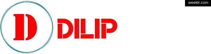 Write -Dilip- name on logo photo