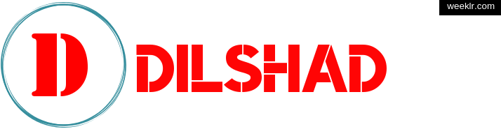 Write -Dilshad- name on logo photo