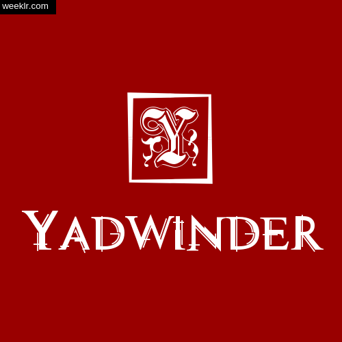 -Yadwinder- Name Logo Photo Download Wallpaper