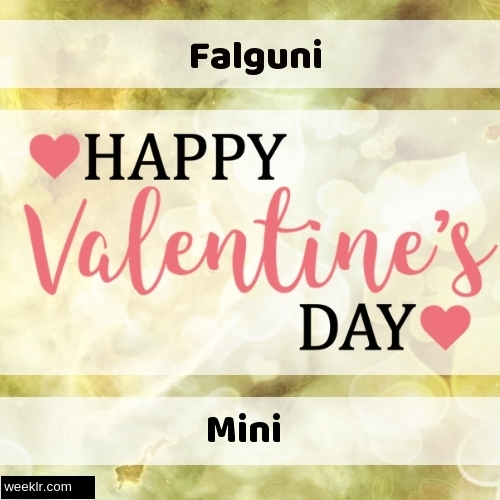 Write -Falguni-- and -Mini- on Happy Valentine Day Image