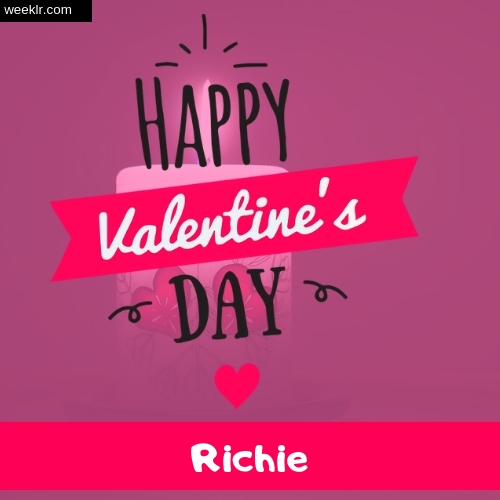Write -Richie- Name on Happy Valentine Day Photo Card