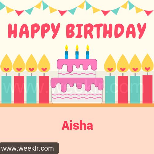 Candle Cake Happy Birthday  Aisha Image