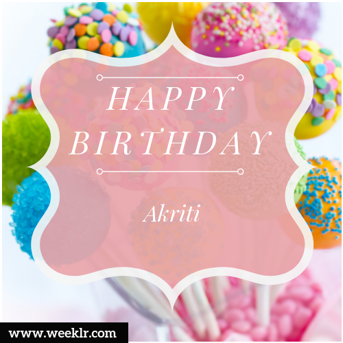 Akriti Name Birthday image