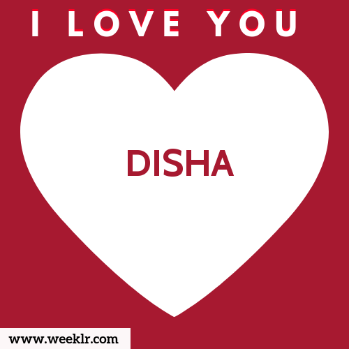 -DISHA- I Love You Name Wallpaper