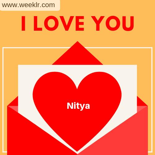 Nitya I Love You Love Letter photo